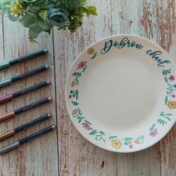 DIY: Ručně malovaný talíř