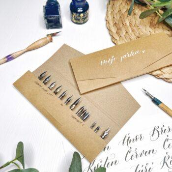 DIY: Papírové pouzdro na kaligrafická perka
